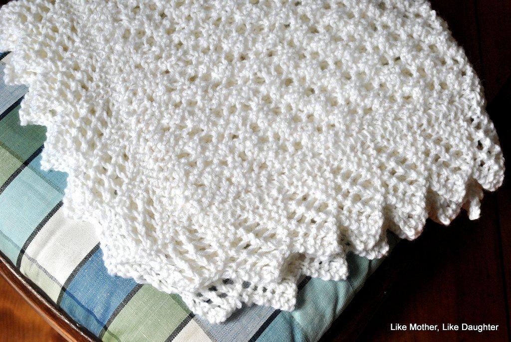 A Lovely Soft Wool Christening Blanket Like Mother Like Daughter