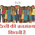 दिल्ली की कुल आबादी कितनी है Delhi ki jansankhya kitni hai