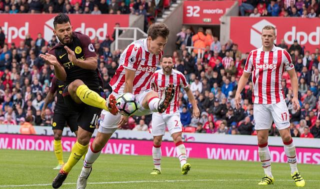 Hasil Liga Inggris Stoke City 1-4 Man City: Sergio Aguero Dua Gol