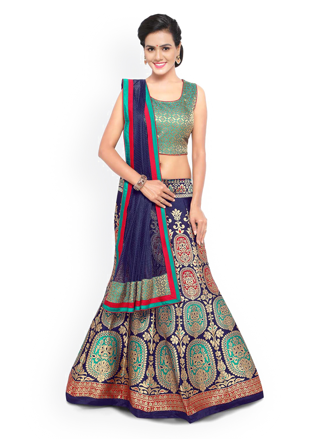 Be The Ethnic Diva With Designer Lehengas From Myntra The
