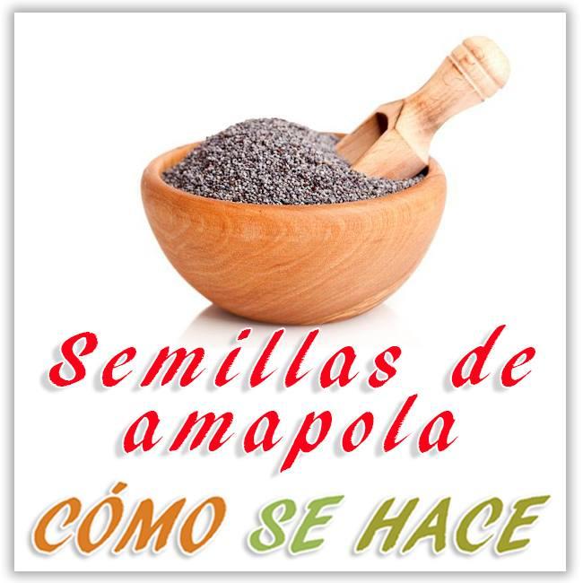 Recolectar y obtener semillas de amapola