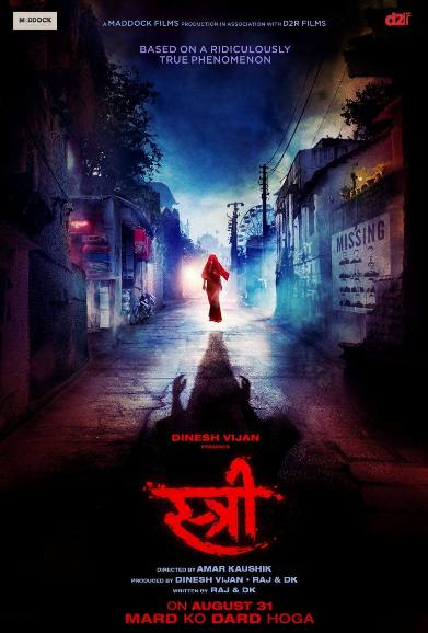 Stree new upcoming movie first look, Poster of Shraddha Kapoor, Rajkummar Rao next movie download first look Poster, release date
