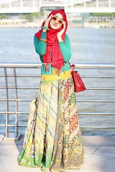 Model Baju Dian Pelangi Terbaru Busana Muslim Rancangan