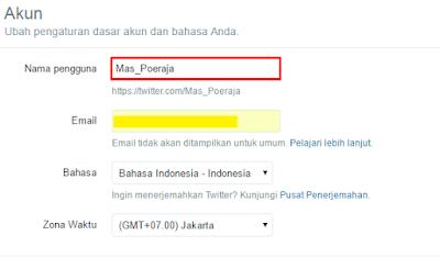 Cara Mengganti ID atau Nama pengguna Twitter 3