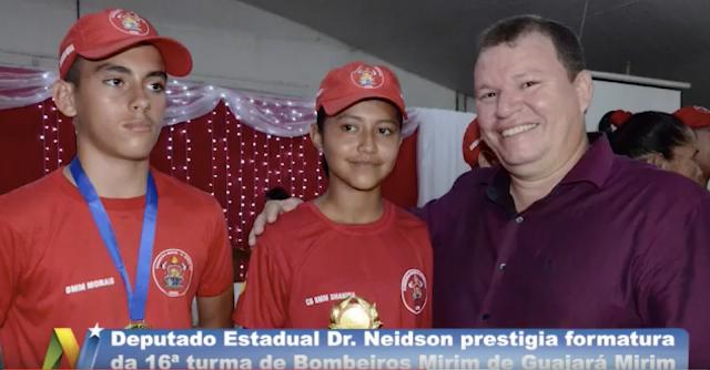 Dr. Neidson prestigia formatura turma de Bombeiro Mirim de Guajará-Mirim