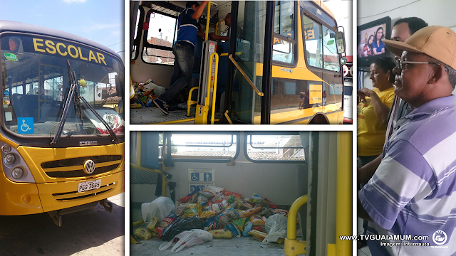 Denuncia: PM detém servidores após utilizar ônibus municipal para arrecadar alimento