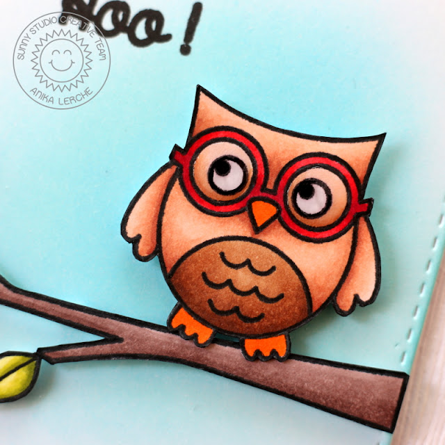 Sunny Studio Stamps: A CAS Woo Hoo Owl card by Anni