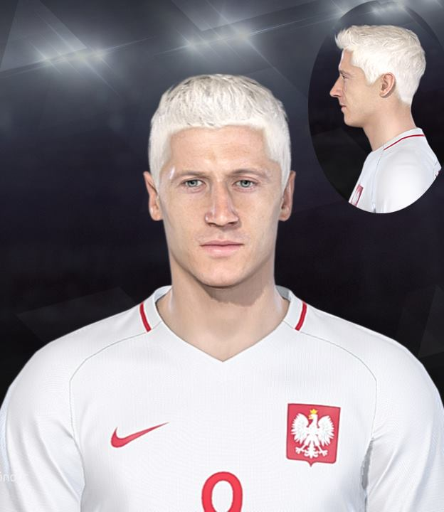 PES 2017 Robert Lewandowski Face by EmreT