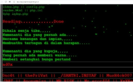 Wadduh...Website KPU Selayar, Katanya Di Hack