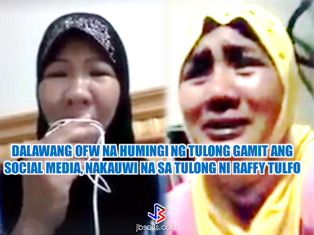 "Social media has always been the rally point for some OFWs in distress. A number of maltreated OFWs has already found help, rescued and repatriated by turning onto social media where they can get the help of concerned netizens relaying the information until it reached the concerned individuals and offices who are able to make appropriate action. In this case, two OFWs  are now finally home after pleading for help in social media and by the help of the public service oriented program of Mr. Raffy Tulfo.  Marilou Ruelo, an HSW in Saudi Arabia sought the help of Mr. Tulfo's program because she was already receiving threats from her employer. According to the video clip that is making rounds in social media, her employer said that he can do anything to her because he is a police officer. Marilou is working alone doing household work for two families. She was also told by her employer that she will not get any salary for two months. Marilou is afraid and anxious and all that she want is to go back home. On July 30, Marilou arrived at the NAIA as her family waited to meet her. With the help of the netizens and Mr. Tulfo's program, she is now finally out of misery. ""Advertisements"" Rachel Catalbas, an OFW from Dammam, Saudi Arabia, said that she went abroad with one thing in mind, to help her family and to give her kids a better future. With what happened to her in a foreign land, she realized that going abroad is not the only way to do it. She said that she should have been contented with what she was earning in her homeland. Later that she realized that people abroad are different. Her employer forced her to work and did not gave her salary for two months. Rachel sent a video message to the program of Mr. Raffy Tulfo and they brought it to the attention of the concerned offices and agencies. Rachel is now repatriated and enjoying the warm embrace of her family. Both of them extend their heartfelt gratitude for the people who helped them to be able to return home safely. Rachel even said that she cant believe that she can come home alive.  The story of Rachel and Marilou are both mirrors of what is really happening  when you set your feet off and try your fate abroad, believing that the grass is always greener on the other side of the lawn. For some, it might be true but for people like Marilou, Rachel and many others, they found horror instead of joy. Harsh treatment that made them want to be back home and live simply with their loved one to whom they dedicate their sacrifices. ""Sponsored Links"" Read More:  A female Overseas Filipino Worker (OFW) working in Saudi Arabia was killed by an unknown gunman in Cabatuan, Isabela on Sunday. The OFW is in the country to enjoy her vacation and to celebrate her bithday with her loved ones. The victim's mother, Betty Ordonez, said that Jenny Constantino, 29, arrived in the country from Saudi Arabia for a vacation.         China's plans to hire Filipino household workers to their five major cities including Beijing and Shanghai, was reported at a local newspaper Philippine Star. it could be a big break for the household workers who are trying their luck in finding greener pastures by working overseas  China is offering up to P100,000  a month, or about HK$15,000. The existing minimum allowable wage for a foreign domestic helper in Hong Kong is  around HK$4,310 per month.  Dominador Say, undersecretary of the Department of Labor and Employment (DOLE), said that talks are underway with Chinese embassy officials on this possibility. China's five major cities, including Beijing, Shanghai and Xiamen will soon be the haven for Filipino domestic workers who are seeking higher income.  DOLE is expected to have further negotiations on the launch date with a delegation from China in September.   according to Usec Say, Chinese employers favor Filipino domestic workers for their English proficiency, which allows them to teach their employers' children.    Chinese embassy officials also mentioned that improving ties with the leadership of President Rodrigo Duterte has paved the way for the new policy to materialize.  There is presently a strict work visa system for foreign workers who want to enter mainland China. But according Usec. Say, China is serious about the proposal.   Philippine Labor Secretary Silvestre Bello said an estimated 200,000 Filipino domestic helpers are  presently working illegally in China. With a great demand for skilled domestic workers, Filipino OFWs would have an option to apply using legal processes on their desired higher salary for their sector. Source: ejinsight.com, PhilStar Read More:  The effectivity of the Nationwide Smoking Ban or  E.O. 26 (Providing for the Establishment of Smoke-free Environment in Public and Enclosed Places) started today, July 23, but only a few seems to be aware of it.  President Rodrigo Duterte signed the Executive Order 26 with the citizens health in mind. Presidential Spokesperson Ernesto Abella said the executive order is a milestone where the government prioritize public health protection.    The smoking ban includes smoking in places such as  schools, universities and colleges, playgrounds, restaurants and food preparation areas, basketball courts, stairwells, health centers, clinics, public and private hospitals, hotels, malls, elevators, taxis, buses, public utility jeepneys, ships, tricycles, trains, airplanes, and  gas stations which are prone to combustion. The Department of Health  urges all the establishments to post ""no smoking"" signs in compliance with the new executive order. They also appeal to the public to report any violation against the nationwide ban on smoking in public places.   Read More:          ©2017 THOUGHTSKOTO www.jbsolis.com SEARCH JBSOLIS, TYPE KEYWORDS and TITLE OF ARTICLE at the box below Smoking is only allowed in designated smoking areas to be provided by the owner of the establishment. Smoking in private vehicles parked in public areas is also prohibited. What Do You Need To know About The Nationwide Smoking Ban Violators will be fined P500 to P10,000, depending on their number of offenses, while owners of establishments caught violating the EO will face a fine of P5,000 or imprisonment of not more than 30 days. The Department of Health  urges all the establishments to post ""no smoking"" signs in compliance with the new executive order. They also appeal to the public to report any violation against the nationwide ban on smoking in public places.          ©2017 THOUGHTSKOTO Dominador Say, undersecretary of the Department of Labor and Employment (DOLE), said that talks are underway with Chinese embassy officials on this possibility. China's five major cities, including Beijing, Shanghai and Xiamen will soon be the destination for Filipino domestic workers who are seeking higher income.  ©2017 THOUGHTSKOTO"