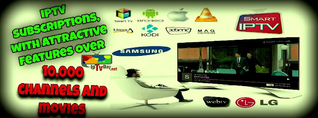 iptv subscriptions 10000 channels and movies  for all countries