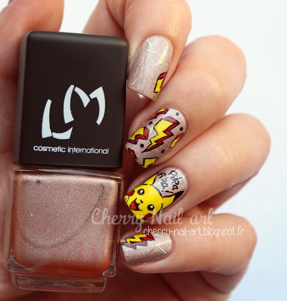 nail art pokemon pikachu