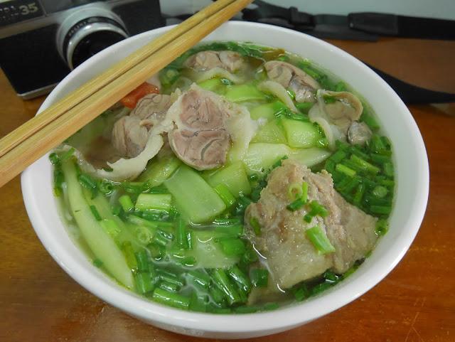 Bún dọc mùng or Pork noodle, Hanoi old quarter