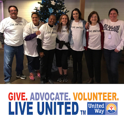 Image of Rio Counselling and Career Services team.  United Way logo: Give, Advocate. Volunteer.  Live United.