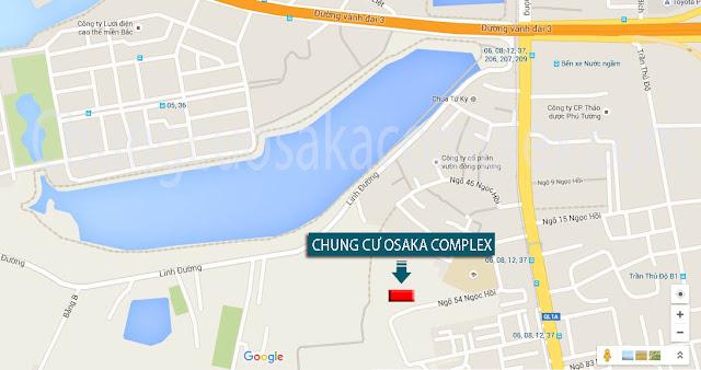 Vị trí chung cư Osaka Complex