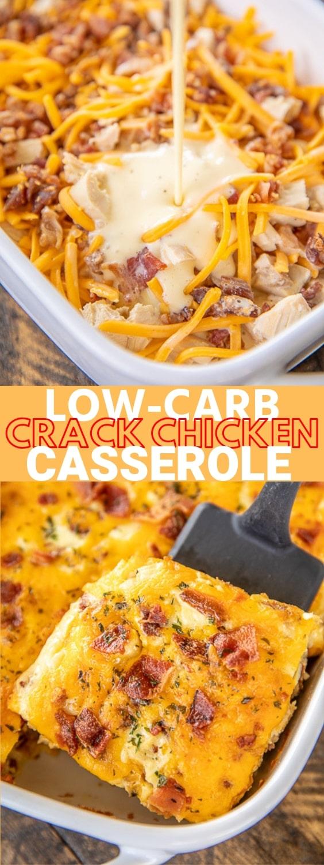 Low Carb Crack Chicken Casserole
