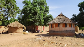 Traditional Huts in Siby on the way to the arch