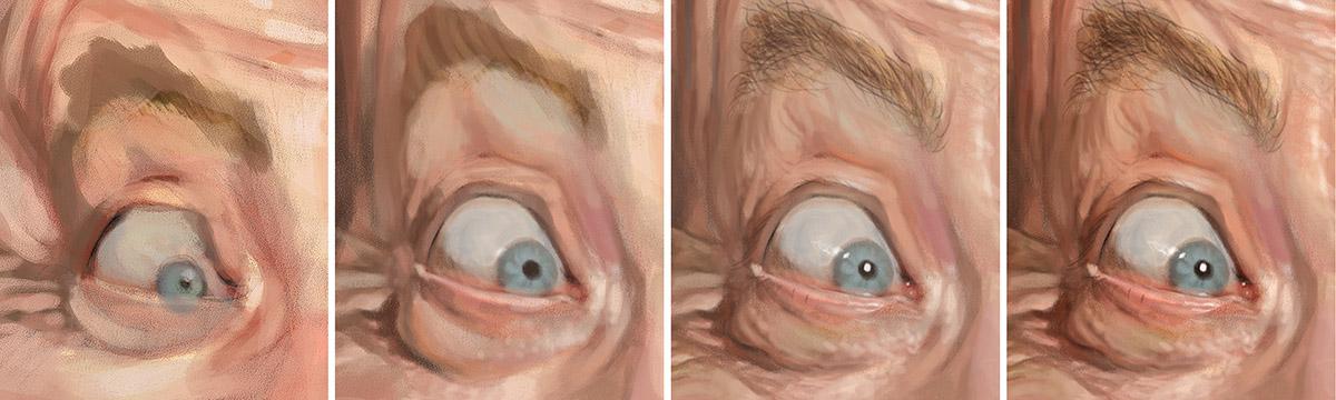 "Proceso ojo izquierda ""J. K. Simmons"" por Bruno Hamzagic"