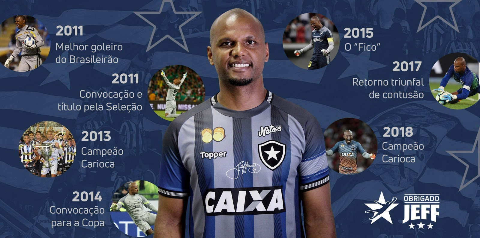 Botafogo lança camisa em homenagem ao goleiro Jefferson - Show de ... 9dc4be30cc7a1