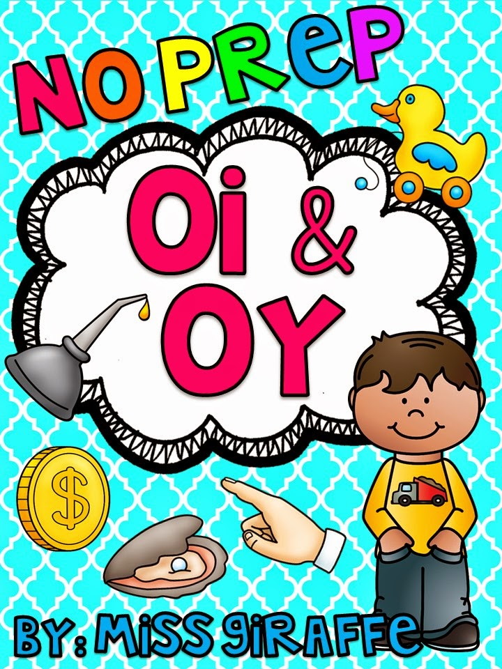 OI OY Sound No Prep phonics pack for lots of OI and OY practice