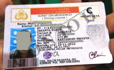 Contoh Foto SIM Persyaratan Daftar Grab