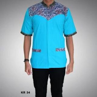 model baju koko bahan batik