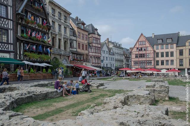 Ruan Rouen Mercado Viejo que ver en 1 día viaje Normandía turismo