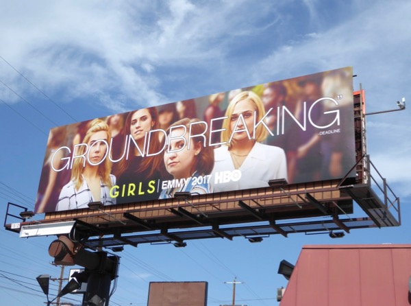 Girls Groundbreaking Emmy FYC billboard