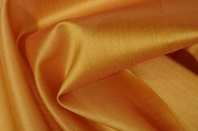 Inca Gold Cotton Silk Fabric