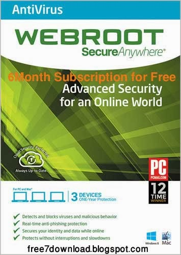 Buy one Webroot SecureAnywhere AntiVirus FREE for 6 months License key, you need to spend $39,99/year. But now you can get it % free by review and tutorial on techhelpdesk.tk Webroot SecureAnywhere Antivirus is an professionally antivirus solution designed to against malwares, viruses, spyware, and other online threats without slowing down.