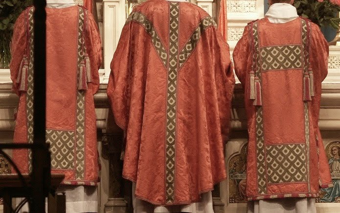 Embroidered Liturgical Vestments for auction 19th century a