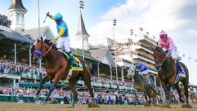 american pharoah wins derby