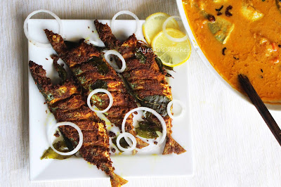 dinner recipe with fried fish mackerel fish masala fried kerala lunch side dish tasty ayeshas kitchen recipes non veg indian recipes