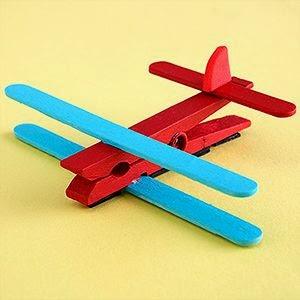 Çamaşır Mandallarından Uçak Yapımı