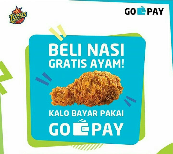 Promo Texas Chicken Beli 1 Nasi Gratis 1 Ayam Pakai GO-PAY