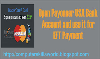 how to open US payoneer bank account