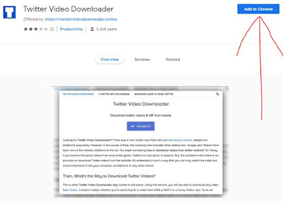 Twitter video downloader extension