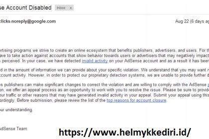 Mengembalikan akun adsense yang dibanned karena bom klik