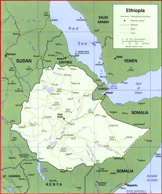 image: Ethiopia Political Map