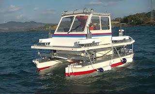 フロート 小型船 クルーザー 発電 サスペンション 波 揺れ 吸収 ボート