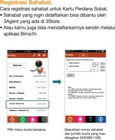 Berbagi Kuota Internet 3 Teman Kamu Dengan Kartu Perdana Tri Sobat Review Product