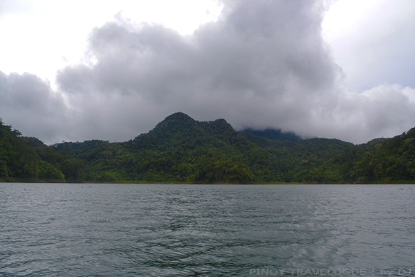Mountains and hills surrounding the lake