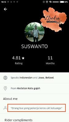 Suswanto Uber Ojek Online
