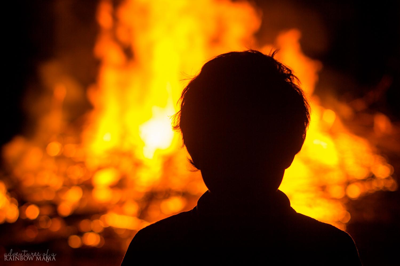Fiery Treble Clef In Rainbow Flames: My Fiery Heart