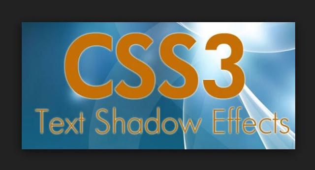 Cara membuat Text Shadow pada css3