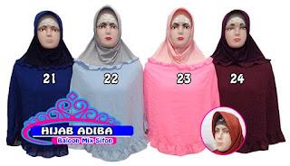 jilbab instan terbaru dan murah bahan sifon mix baloon