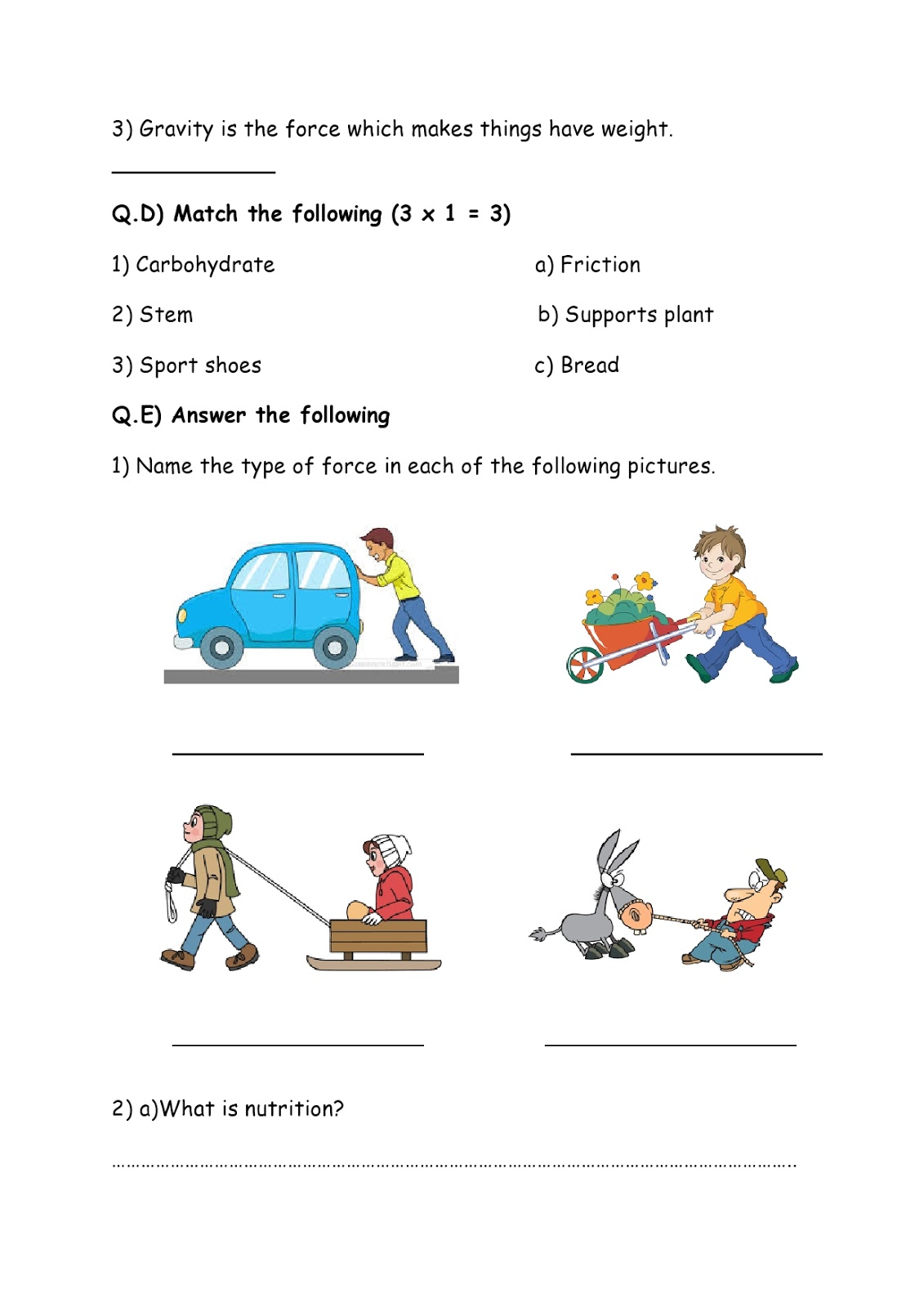 Birla World School Oman Homework For Grade 3 As On 06 05