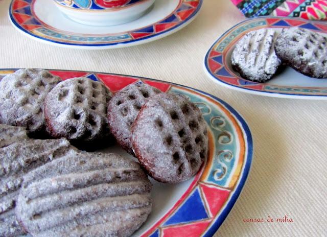 Galletas de castañas y chocolate