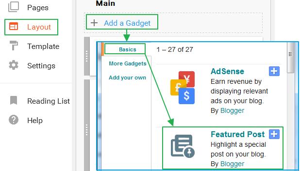 구글 블로그 사용법: 피쳐드 포스트 (Featured Post) 가젯 속성 제어와 꾸미는 방법 - CSS 코드 추가