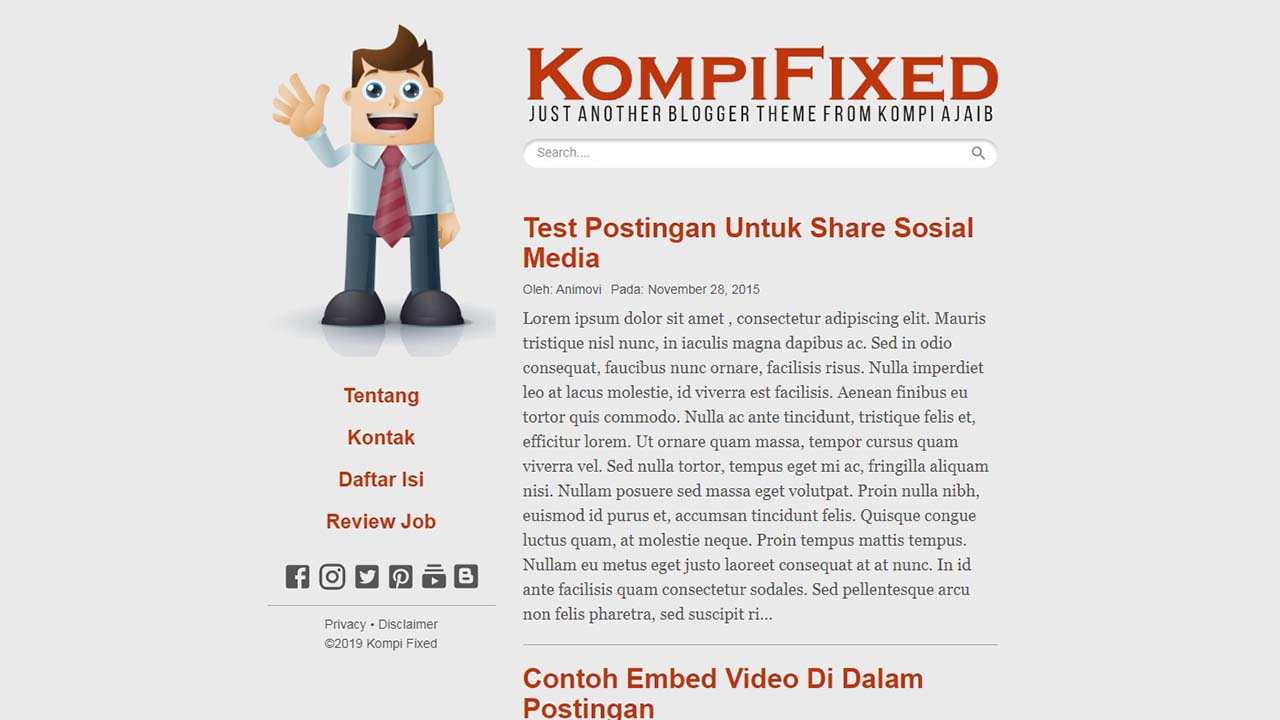 Premium Blogger Template Kompi Fixed